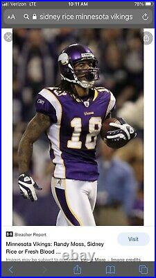 2011 Minnesota Vikings Sydney Rice Authentic Game Issued Jersey
