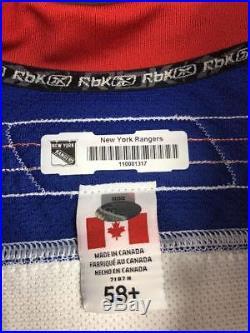 2012-13 Mike Rupp New York Rangers Game Issued Reebok NHL Hockey Jersey! COA