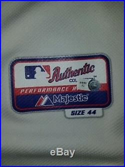 2012 Game Issued Majestic St Louis Cardinals Alex Cora Jersey Size 44 WS Patch