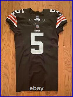 2012 Nike Cleveland Browns Spencer Lanning Game Issued/Used Jersey
