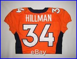 2012 Nike Denver Broncos Ronnie Hillman Team Issue Game Worn Rookie Jersey NFL