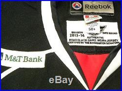 2013-14 Binghamton Senators AHL Goalie Cut 58+G Game Issued Jersey