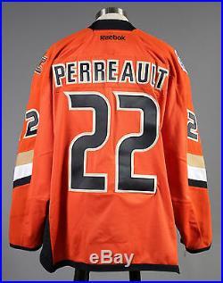 2013-14 Mathieu Perreault Anaheim Ducks Game Issued Orange Stadium Series Jersey