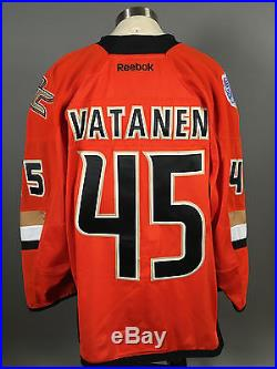 2013-14 Sami Vatanen Anaheim Ducks Game Issued Orange Stadium Series Jersey