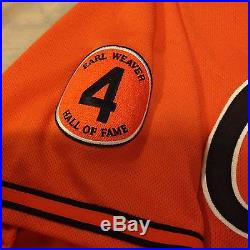 2013 Baltimore Orioles Darren O'Day Game Used/Team issued Orange Jersey