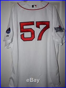 2013 Boston Red Sox Game Used Worn Issued Home World Series Jersey Boston Strong