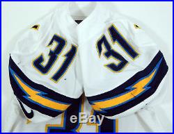 2013 San Diego Chargers Richard Marshall #31 Game Issued White Jersey AA0016832