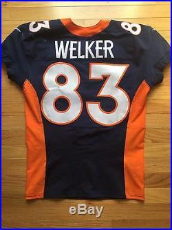 2013 Wes Welker Denver Broncos Game Used Jersey Worn Issued Patriots Super Bowl