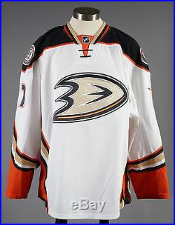 2014-15 Andrew Cogliano Anaheim Ducks Game Issued PLAYOFF Away White Jersey #2