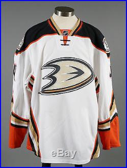 2014-15 Cam Fowler Anaheim Ducks Game Issued PLAYOFF Away White Jersey #2