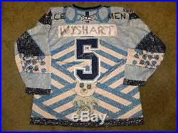 2014-15 Evansville IceMen ECHL #5 Ty Wishart Education Night Game Issued Jersey