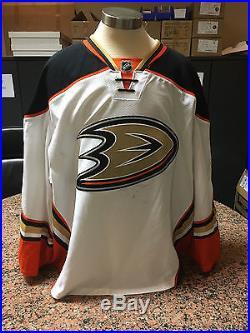 2014-15 Frederik Andersen Anaheim Ducks Game Issued PLAYOFF Away White Jersey #2