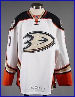 2014-15 Hampus Lindholm Anaheim Ducks Game Issued PLAYOFF Away White Jersey #2