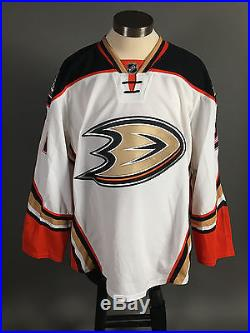 2014-15 Kyle Palmieri Anaheim Ducks PLAYOFF Game Issued Away White Jersey