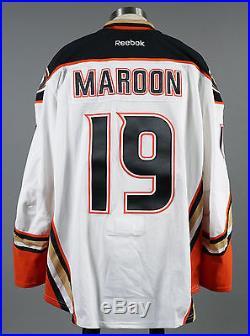 2014-15 Patrick Maroon Anaheim Ducks Game Issued PLAYOFF Away White Jersey #2