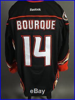 2014-15 Rene Bourque Anaheim Ducks Game Issued Teemu Selanne Night Black Jersey