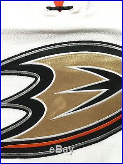 2014-15 Ryan Getzlaf Anaheim Ducks Game Issued PLAYOFF White Away Jersey #2