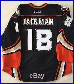 2014 Anaheim Ducks Game Issued Used Jersey Tim Jackman Stanley Cup Playoffs Tm