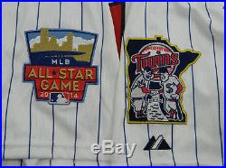 2014 Minnesota Twins Vance Worley Game Issued Poss. Game Used Pinstripe Jersey