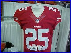2014 NFL San Francisco 49ers Game Worn/Team Issued Jersey Player #25 Size 42