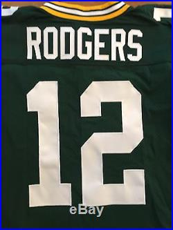 2014 Nike Team Game Issued Aaron Rodgers Green Bay Packers MVP Jersey