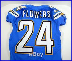 2014 San Diego Chargers Brandon Flowers #24 Game Issued Powder Blue Jersey
