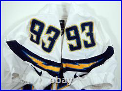 2014 San Diego Chargers Dwight Freeney #93 Game Issued White Jersey SDC00044
