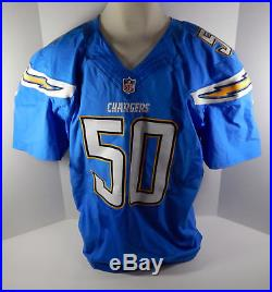 2014 San Diego Chargers Manti Te'o #50 Game Issued Light Blue Jersey