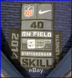 2014 San Diego Chargers Mike Bercovici #6 Game Issued Dark Blue Jersey