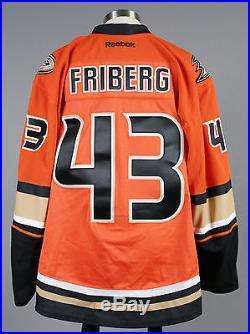 2015-16 Max Friberg Anaheim Ducks Game Issued Orange Alternate Jersey #1