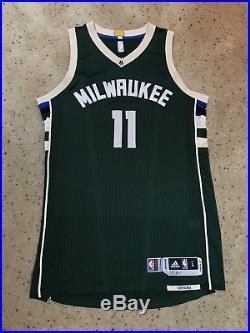 2015-16 Tyler Ennis Milwaukee Bucks Game Issued Used Worn Away Green Jersey