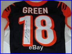 2015 AJ Green Cincinnati Bengals Game Issued Signed NFL Jersey COA