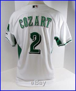 2015 Cincinnati Reds Zack Cozart Game Issued Irish Heritage Jersey