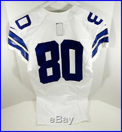 2015 Dallas Cowboys #80 Game Issued White Jersey