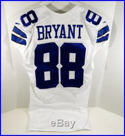 2015 Dallas Cowboys Dez Bryant #88 Game Issued White Jersey DAL00249