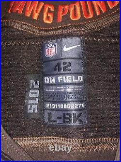 2015 Nike Cleveland Browns #23 Joe Haden Team Issued Game Jersey