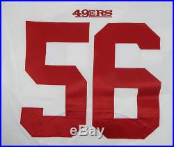 2015 San Francisco 49ers #56 Game Issued White Jersey