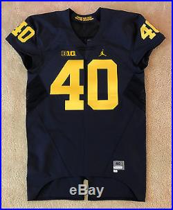 2016 Michigan Wolverines Jordan Nike Authentic Game Issued Mach Speed Jersey