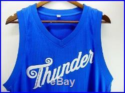 2016 NBA Christmas Day Oklahoma City Thunder Team Issued Game Jersey Adidas XL2