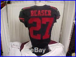 2016 NFL San Francisco 49ers Game Worn Team Issued Keith Reaser Jersey #27 Sz 40