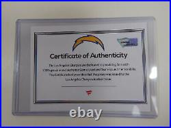 2016 San Diego Chargers Kasey Redfern #3 Game Issued White Jersey