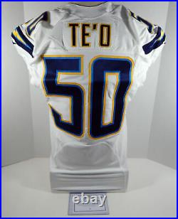 2016 San Diego Chargers Manti Te'o #50 Game Issued White Jersey