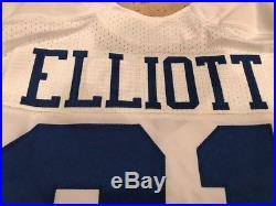 2016 White Home Rookie Game Team Issued Dallas Cowboys Ezekiel Elliott Jersey