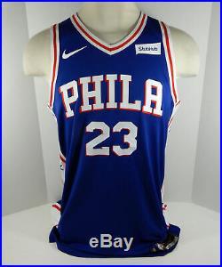 2017-18 Philadelphia 76ers Ersan Ilyasova #23 Game Issued Blue Jersey DP01069