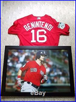 2017 Boston Red Sox Andrew Benintendi Spring Jersey Game Issued Worn Used