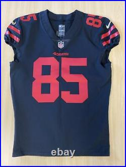 2017 George Kittle Game Team Issued 49ers Jersey ROOKIE YEAR COLOR RUSH, LOA