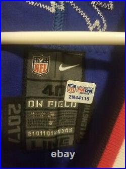 2017 Nike Game Issued Signed Buffalo Bills Tyrod Taylor Jersey Size 40 PSA/DNA