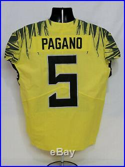 2017 Oregon DUCKS Team Issued NIKE Game Worn FOOTBALL JERSEY #5 Pagano MEN'S 46