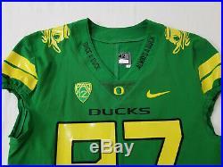 2017 Oregon DUCKS Team Issued NIKE Game Worn FOOTBALL JERSEY #97 Jelks MEN'S 42