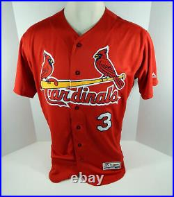 2017 St. Louis Cardinals Jedd Gyorko #3 Game Issued Sign Red Jersey ST JC187798